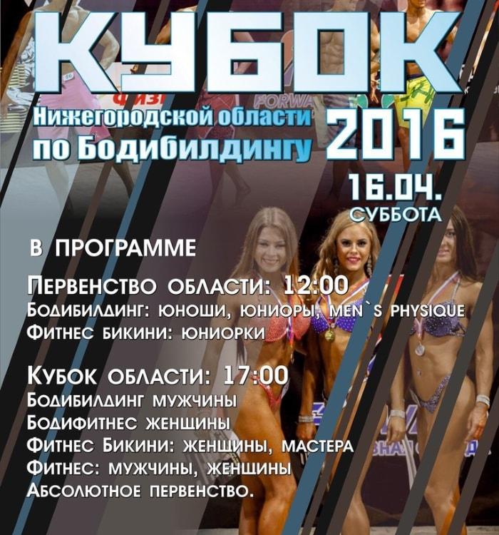 Кубок Нижегородской области по бодибилдингу 2016